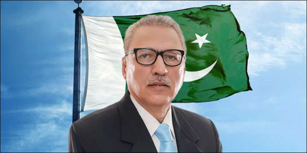 Image result for Pakistan will not join nuclear race, Arif Alvi