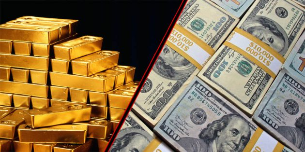 Gold rates rise, dollar slides down against rupee