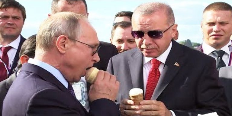 Putin buys ice cream to Erdogan