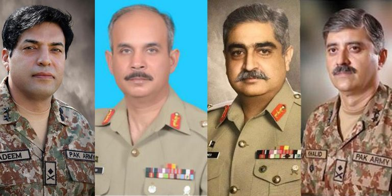 Pakistan Army promotes four Majors General to Lt Gen rank