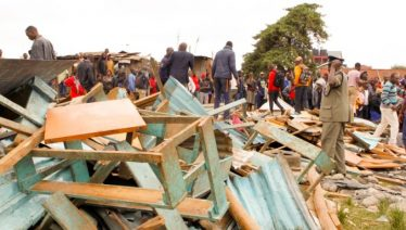 Kenya classroom collapsed killed seven