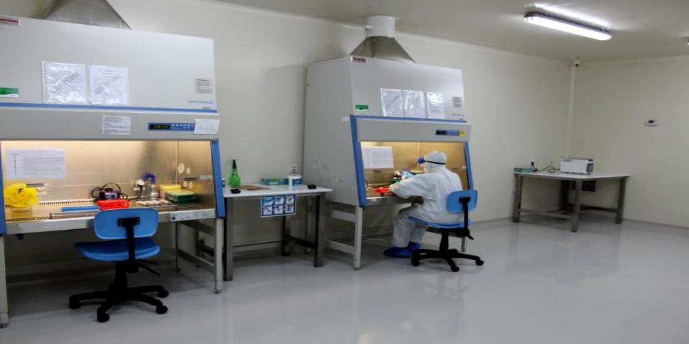 Coronavirus testing lab in KU