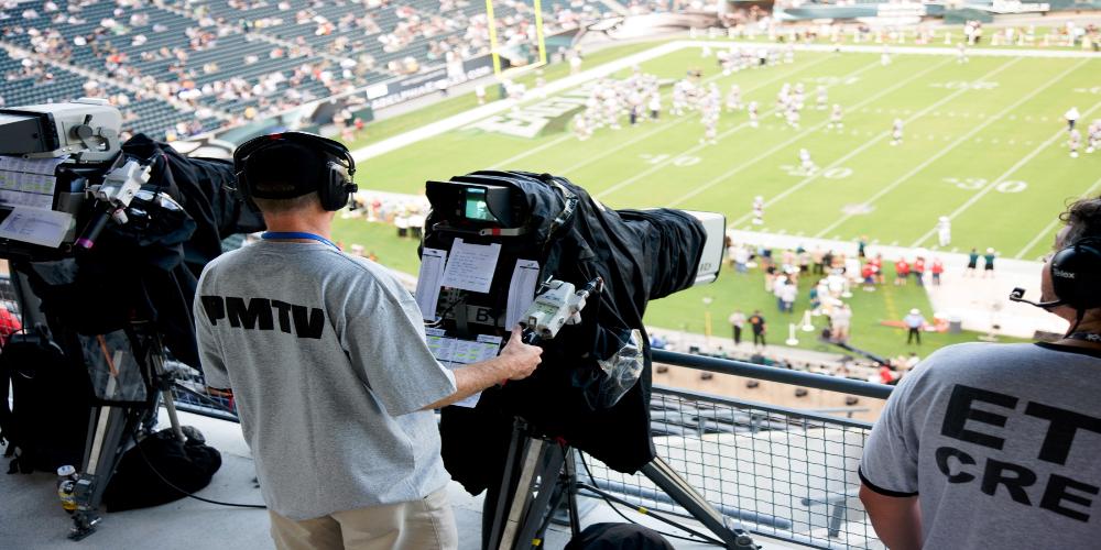 Technicians broadcast sports